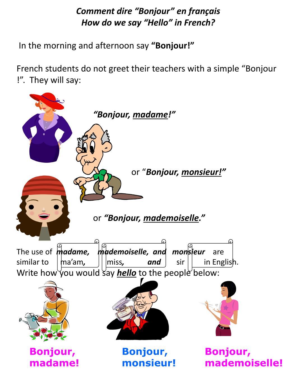 Ppt comment dire bonjour en franais how do we say hello in ppt comment dire bonjour en franais how do we say hello in french powerpoint presentation id3664198 m4hsunfo