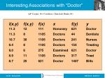 interesting associations with doctor