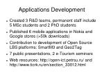 applications d evelopment