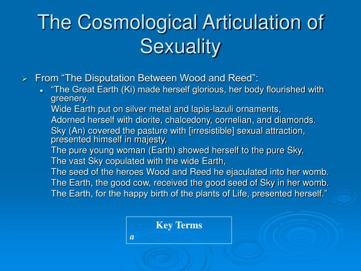 The Cosmological Articulation of Sexuality