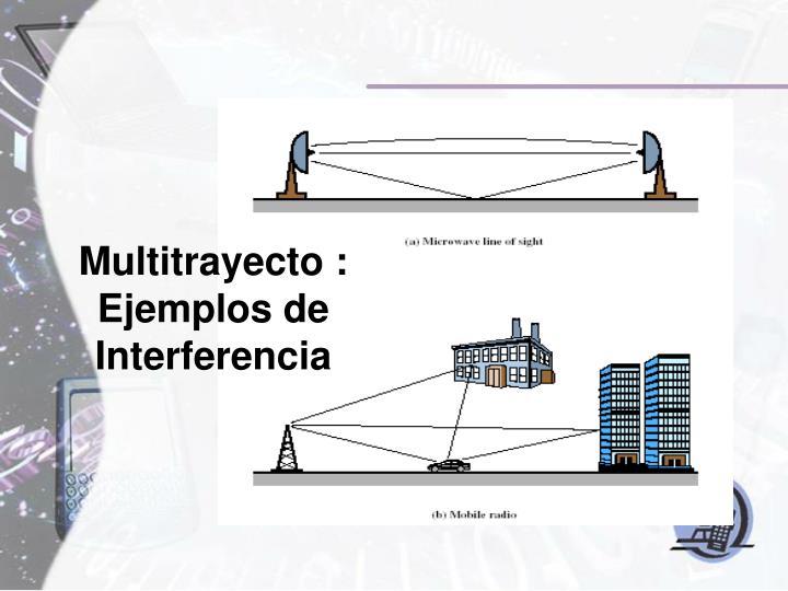 Multitrayecto : Ejemplos de Interferencia