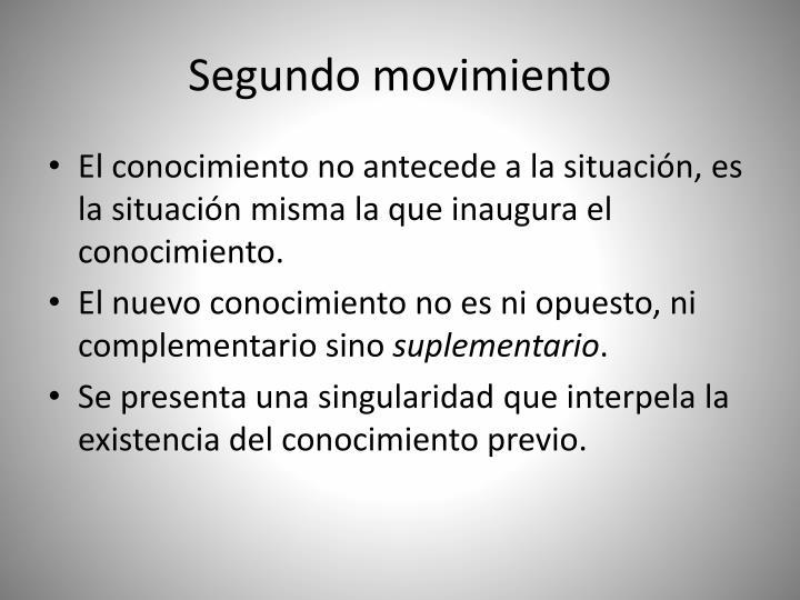 Segundo movimiento