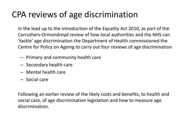 equality in health and social care