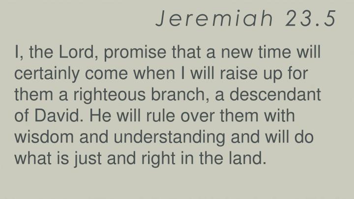 Jeremiah 23.5
