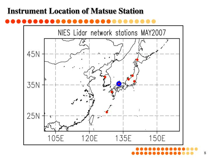Instrument Location of Matsue Station
