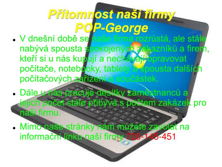 P tomnost na firmy pop george