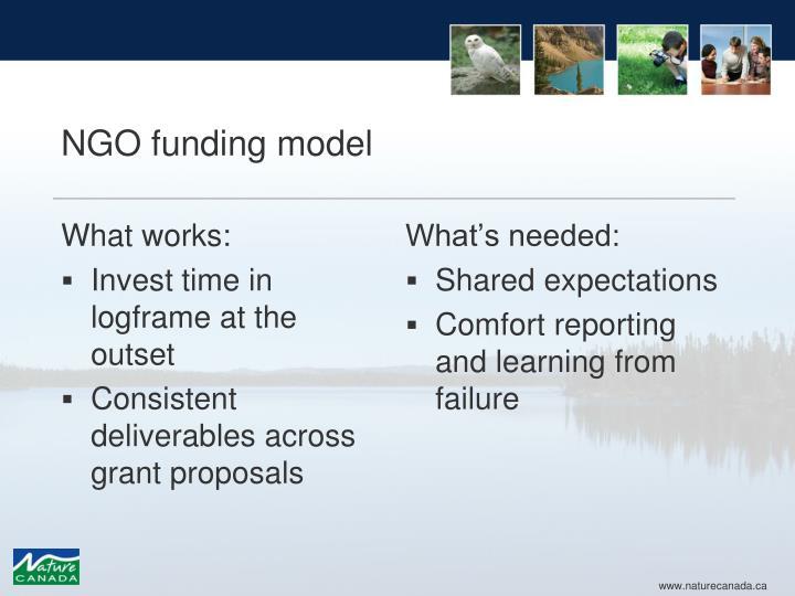 NGO funding model