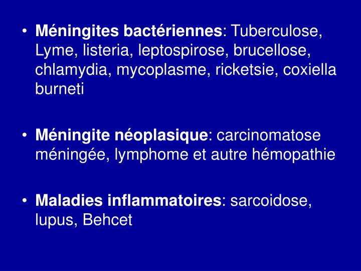 Méningites bactériennes