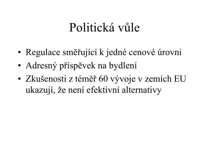 Politická vůle