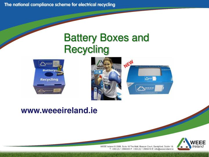Battery Boxes and Recycling
