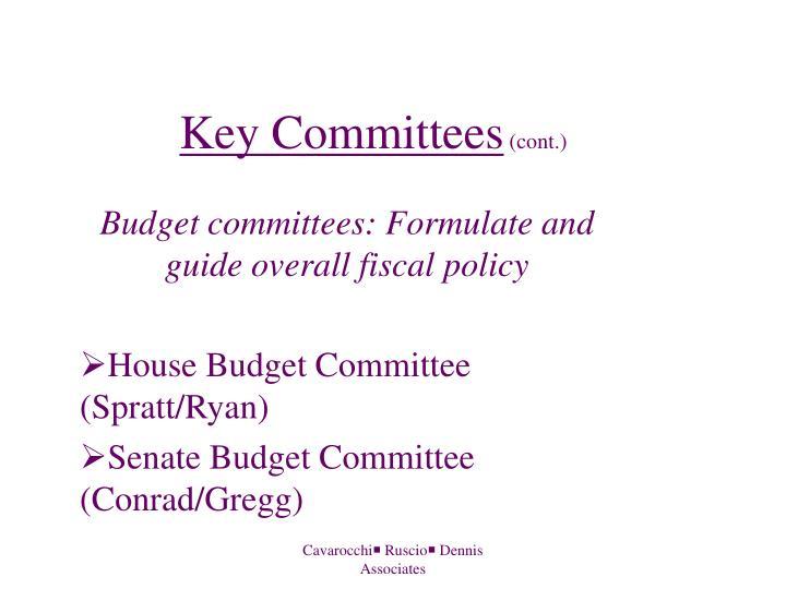 Key Committees