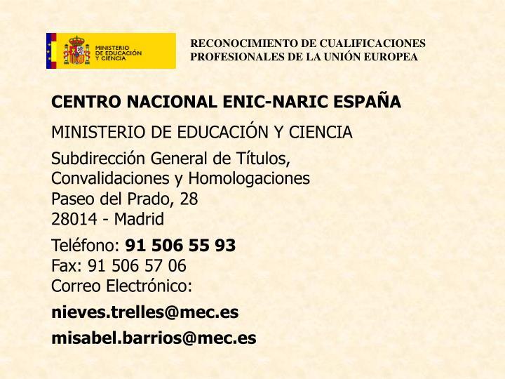 CENTRO NACIONAL ENIC-NARIC ESPAÑA