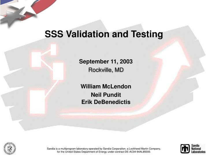 sss validation and testing n.