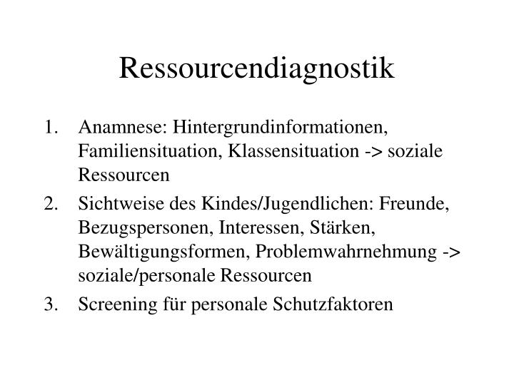 Ressourcendiagnostik