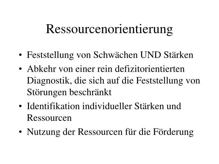 Ressourcenorientierung