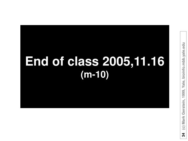 End of class 2005,11.16