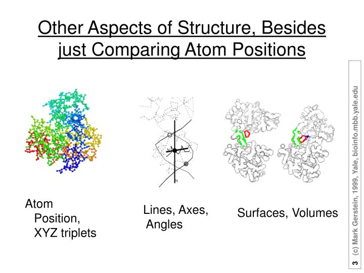 Other aspects of structure besides just comparing atom positions