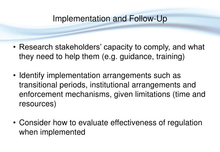 Research stakeholders' capacity to comply, and what they need to help them (e.g. guidance, training)