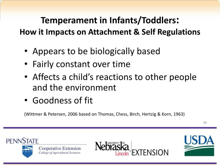 temperament in infants Attachment theory is centered on the emotional bonds between anxiety and distress that children experience when forming this attachment behavior.