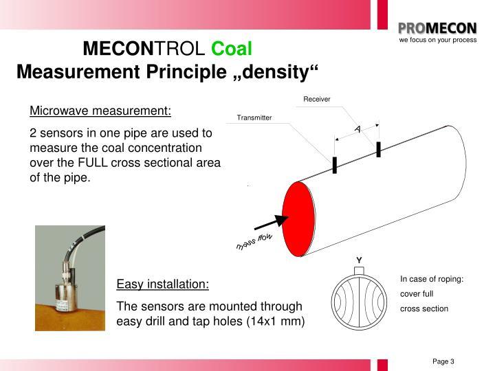 Mecon trol coal measurement principle density