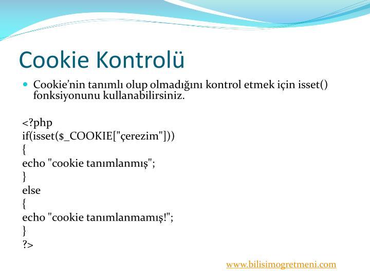 Cookie Kontrolü