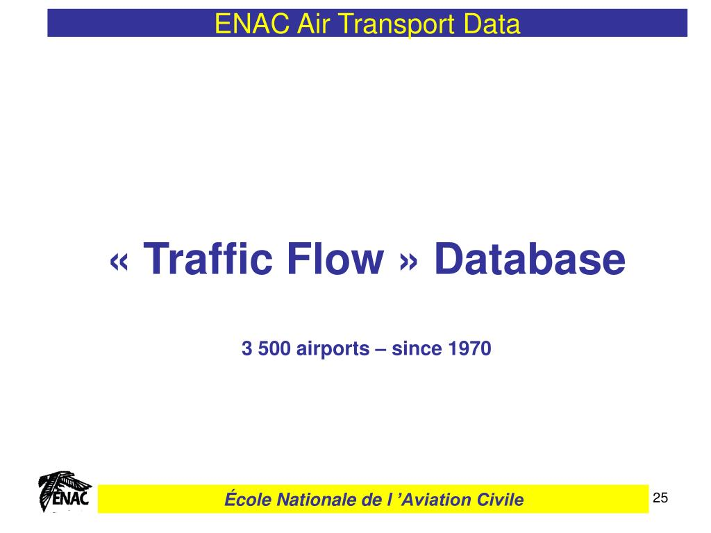PPT - ENAC Air Transport Data PowerPoint Presentation - ID:3666486