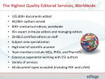 the highest quality editorial services worldwide