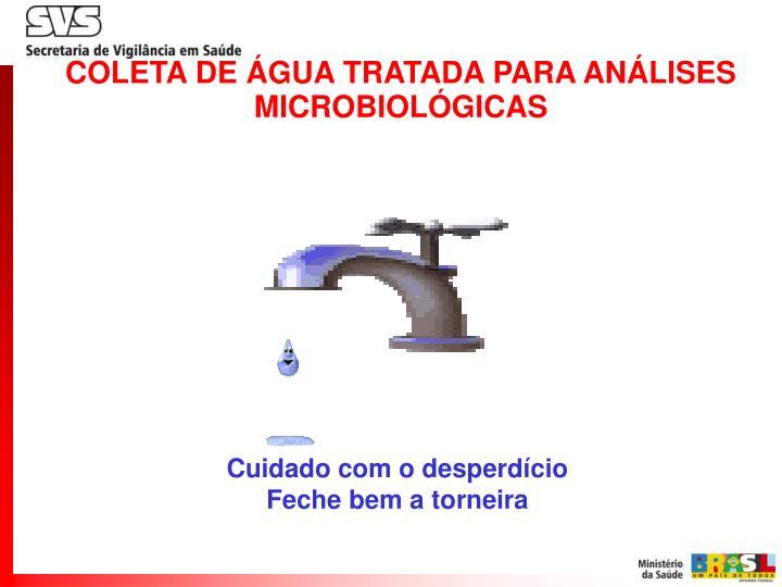 COLETA DE ÁGUA TRATADA