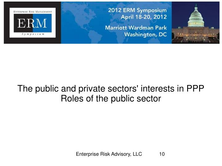 The public and private sectors' interests in PPP