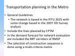 transportation planning in the metro7