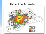 urban area expansion