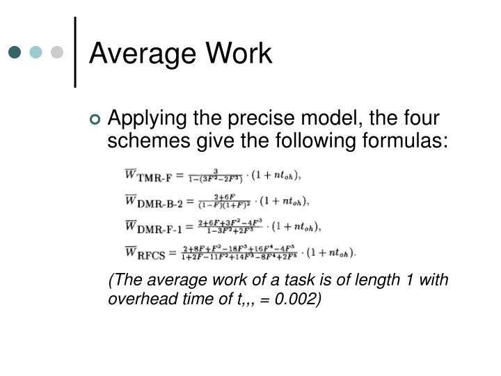 Average Work