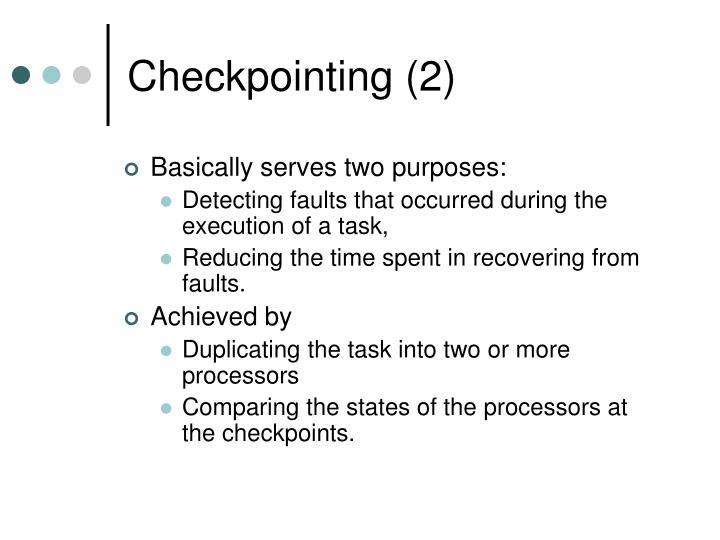 Checkpointing (2)