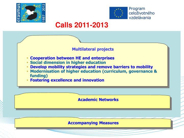 Calls 2011-2013