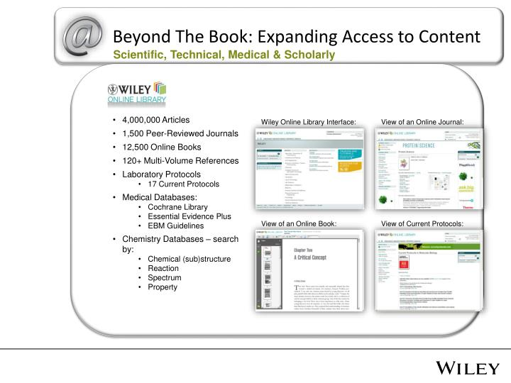 Beyond The Book: Expanding Access to Content