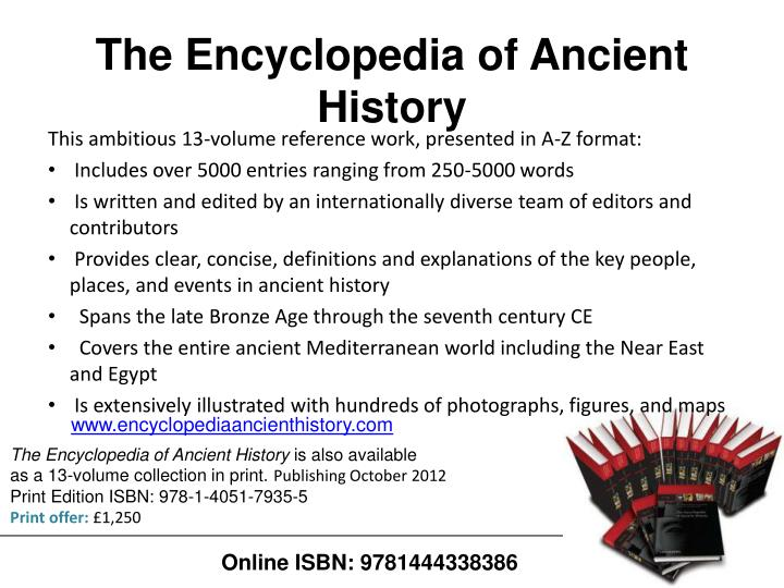 The Encyclopedia of Ancient History