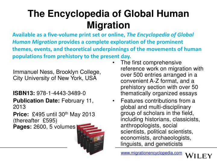 The Encyclopedia of Global Human Migration