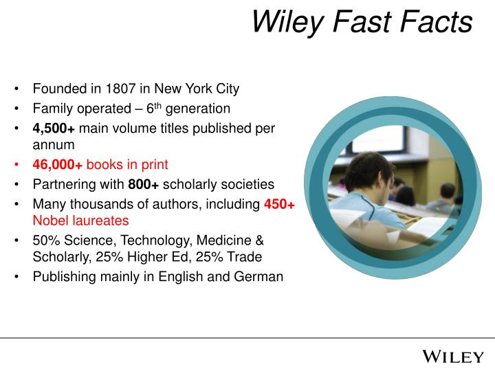 Wiley fast facts
