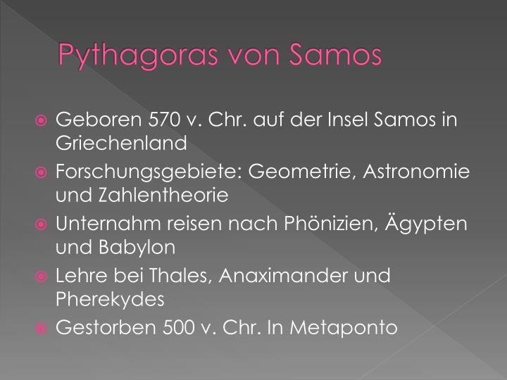 Pythagoras von samos