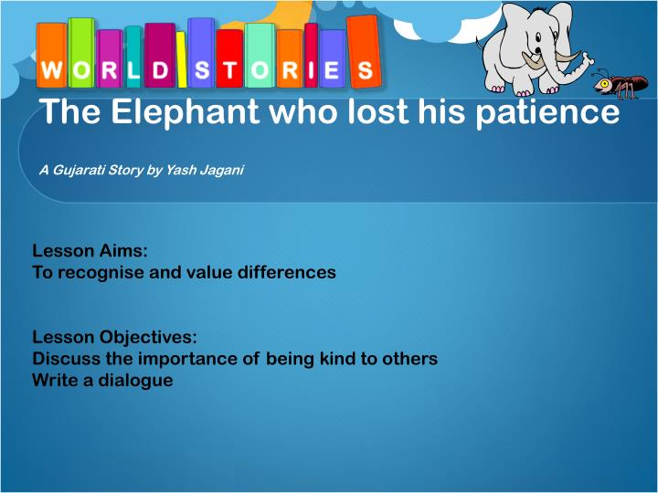 the elephant who lost his patience a gujarati story by yash jagani n.
