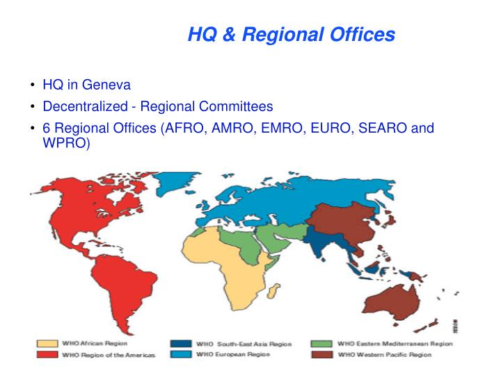 HQ & Regional Offices