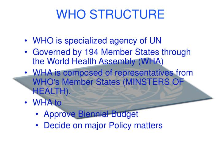 WHO STRUCTURE