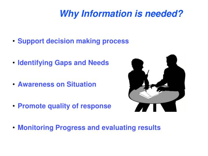Why Information is needed?