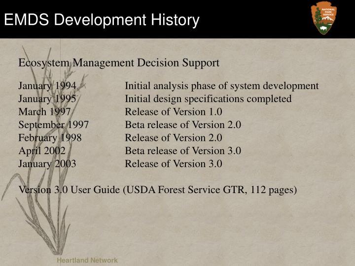 EMDS Development History
