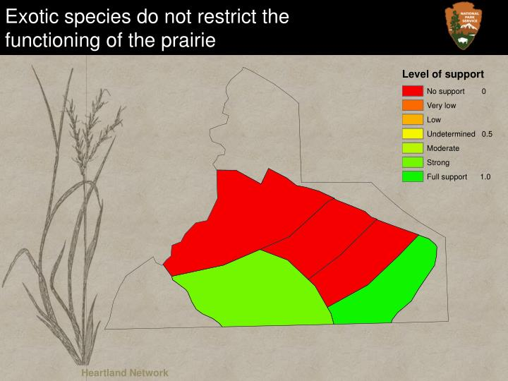 Exotic species do not restrict the