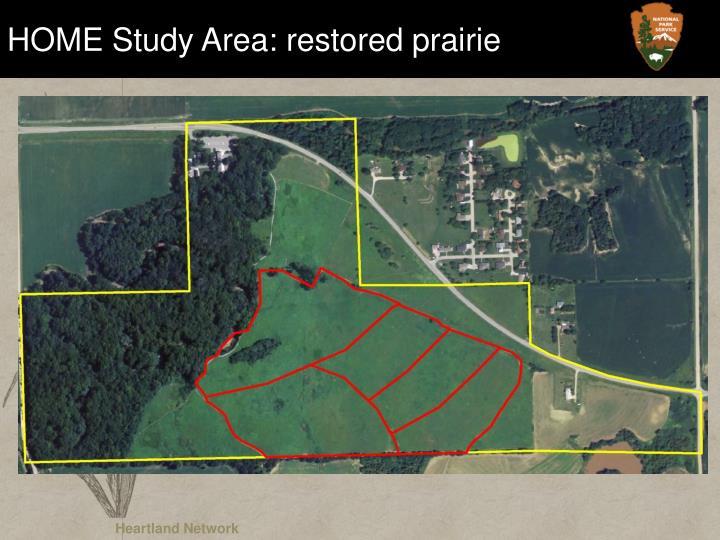 HOME Study Area: restored prairie