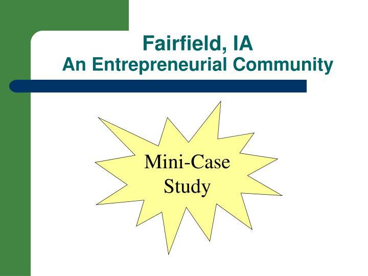 Fairfield, IA