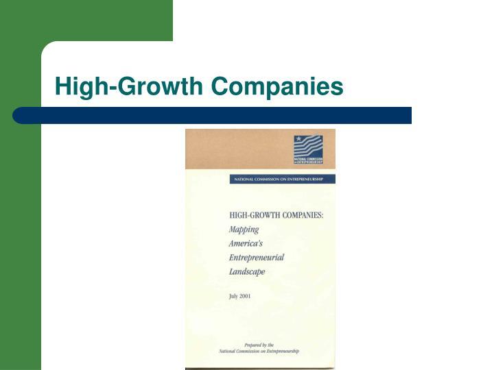 High growth companies