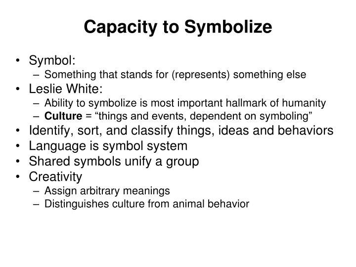 Capacity to Symbolize