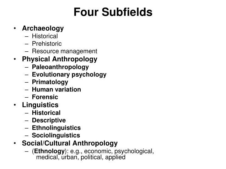 Four subfields